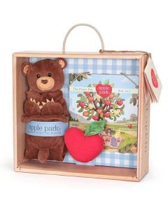 Cubby Blankie, Book and Rattle Gift Crate - Apple Park