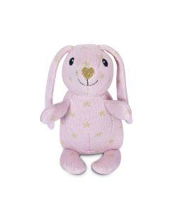 Sparkle Knit Patterned Bunny Plush Toy - Apple Park