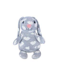 Valentine Knit Patterned Bunny Plush Toy - Apple Park