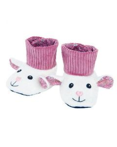Lamby Booties - Organic Patterned Booties - Apple Park