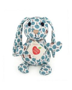 Blue Forest Patterned Bunny Plush Toy - Apple Park