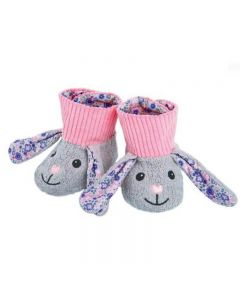 Bunny Booties - Organic Patterned Booties - Apple Park