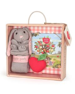 Bunny Blankie, Book and Rattle Gift Crate - Apple Park