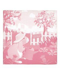 Bunny Jacquard Muslin Blanket - Apple Park