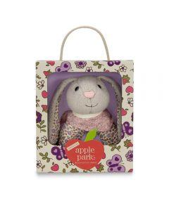 Bunny Patterned Rattle - Apple Park