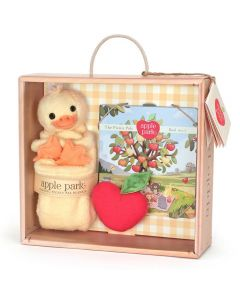 Ducky Blankie, Book and Rattle Gift Crate - Apple Park