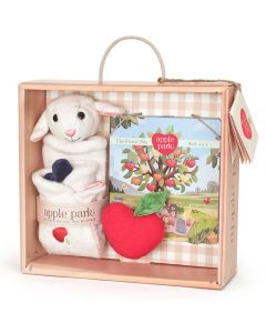 Lamby Blankie, Book and Rattle Gift Crate - Apple Park