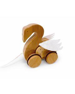 Swan Bamboo Push & Pull Animal - Kinderfeets