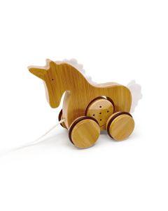 Unicorn Bamboo Push & Pull Animal - Kinderfeets
