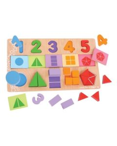 My First Fractions Puzzle - Bigjigs Toys