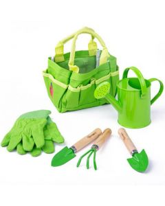Small Tote Bag with Garden Tools - Bigjigs Toys