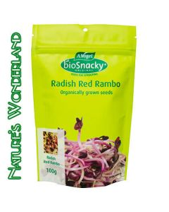 Radish Red Rambo - bioSnacky Sprouting Seeds - 100g - A. Vogel