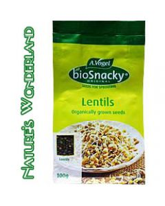 Lentils - bioSnacky Sprouting Seeds - 100g - A. Vogel