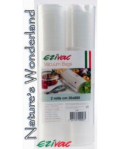 Vacuum Packing Rolls - 30cm x 6m - pack of 2 - Ezivac