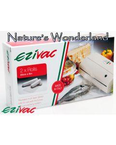 Vacuum Packing Rolls - 20cm x 6m - pack of 2 - Ezivac