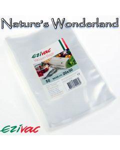 Vacuum Packing Bags - 20cm x 30cm - pack of 50 - Ezivac