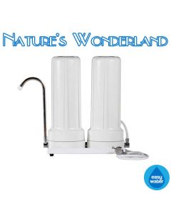 Aquametix Dual Chamber Benchtop Fluoride Removal Filter System - Easy Water