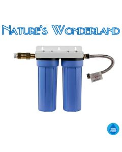 Aquametix Dual Chamber Undersink Fluoride Removal Filter System - Easy Water