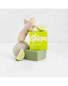 Lime & Ginger Solid Body Polish Bar - 110g - Ethique