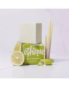 Lime & Lemongrass Solid Cream Body Cleanser Bar - 105g - Ethique