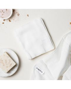 Muslin Facial Cloths with Cotton Wash Bag - 2 pack - Ever Eco