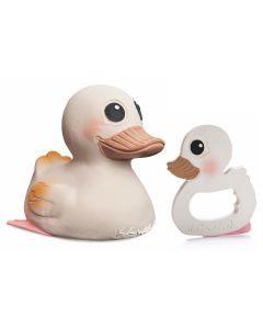 Kawan Duck & Teether Combo - Natural Rubber Toy - Hevea