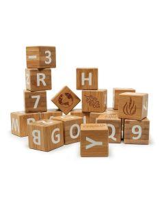 Bamboo ABC Blocks - Kinderfeets