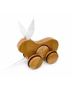 Rabbit Bamboo Push & Pull Animal - Kinderfeets