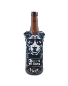 Border Collie Can Stubby Cooler - Cheers Big Ears Range by Lisa Pollock