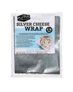 Cheese Wrap, Silver - 10 Pack - Mad Millie