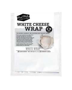 Cheese Wrap, White - 10 Pack - Mad Millie
