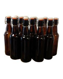 Flip-Top / Grolsch Amber Glass Bottles, 500ml - Mangrove Jack's