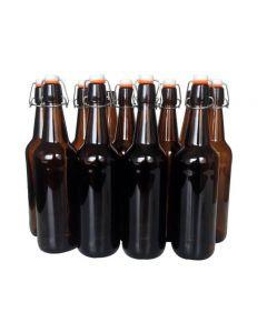 Flip-Top / Grolsch Amber Glass Bottles, 750ml - Mangrove Jack's