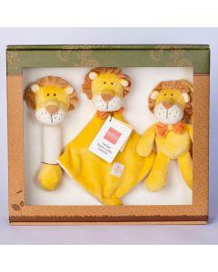 Lion Stick Rattle, Lovie and Stroller Toy Gift Set - MiYim
