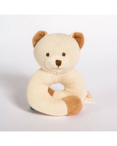 Bear Knitted Rattle Teether - MiYim