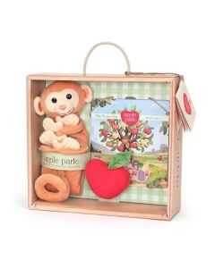 Monkey Blankie, Book and Rattle Gift Crate - Apple Park