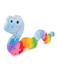Alphabet Snake Puzzle - Rainbow Serpent Puzzle - New Classic Toys