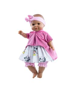 Alberta Soft Body Doll with Mickey and Minnie Print Skirt - Paola Reina
