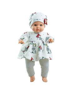 Angela Soft Body Doll with Printed Dress - Paola Reina