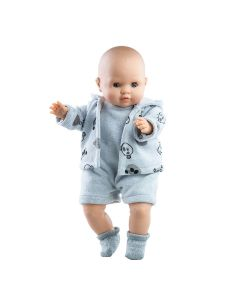 Andres Soft Body Doll with Panda Print Jacket - Paola Reina