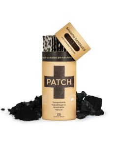 Patch Bamboo Adhesive Bandages - Activated Charcoal - 25 pack