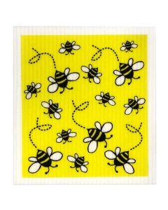 Biodegradable Swedish Dish Cloth - Bees - Retro Kitchen