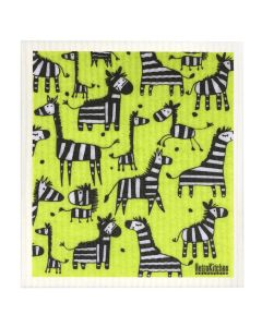 Biodegradable Swedish Dish Cloth - Zebras - Retro Kitchen