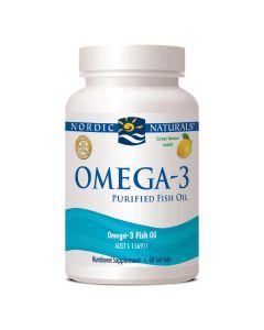 Omega-3 - Purified Fish Oil - 60 Capsules - Lemon Flavour - Nordic Naturals