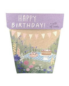 Happy Birthday Picnic Gift of Seeds - Sow 'n Sow