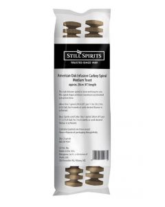 American Charred Oak Infusion Carboy Spirals - Medium Toast - Still Spirits