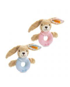 Hoppel Rabbit Grip Toy with Rattle - Steiff Babyworld - 12cm