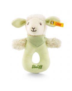 Lenny Lamb Grip Toy with Rattle - Steiff Babyworld - Green, 15cm
