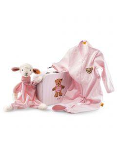 Sweet Dreams Lamb Gift Set - Comforter & Romper - Steiff Babyworld - Pink