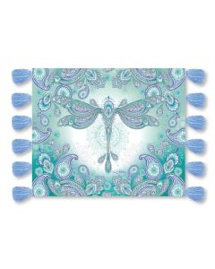 Dragonfly Dreams Plush Throw with Tassels by Lisa Pollock